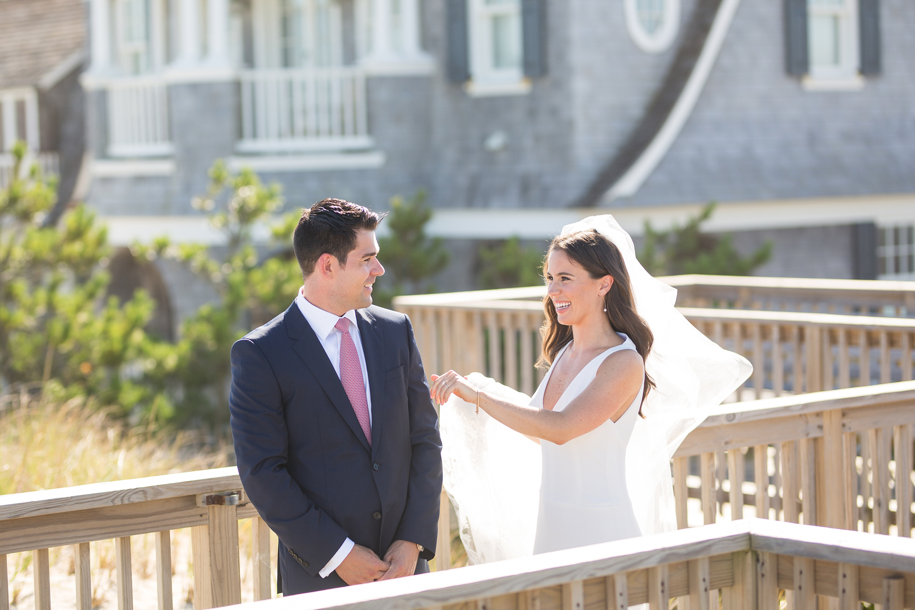 bay head yacht club wedding first look