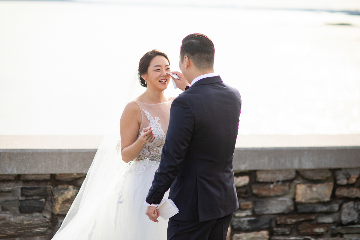 Glen Island Harbour Club Wedding First Look